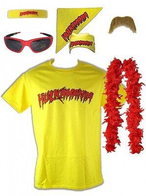 5396 Kostüm Hulk Hogan Hulkamania Gelb Retro Bis 5XL ! T-Shirt, Sonnenbrille (Hulk Kostüme T Shirt)