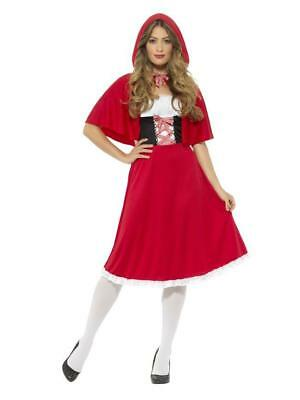 ADULT LITTLE RED RIDING HOOD COSTUME LADIES FANCY DRESS WORLD BOOK DAY FAIRYTALE ()