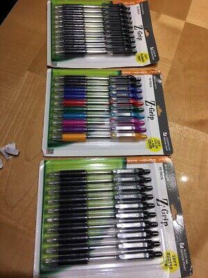 30-pack Zebra Pen Z-grip Retractable Ballpoint Pen 1.0mm Point Blackcolor