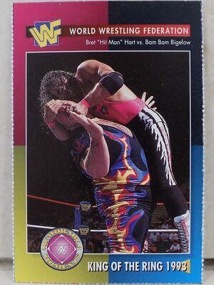 WWF MAGAZINE CARD 1995 KING OF THE RING 1993 29 WRESTLING HASBRO WWE BRET HART