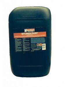 25L  LITRE BLACK BITUMEN PAINT WATERPROOF WEATHERPROOF PAINT