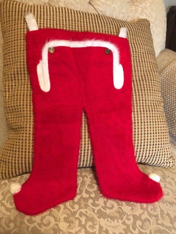 Vintage Holiday Christmas Stocking - Child's PJ Style