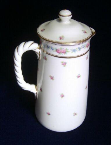 C 1890-1910 Fine Porcelain Cauldon Pottery, England Chocolate Coffee Pot - VGC