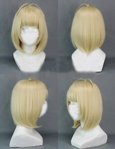 Exorcist Shiemi Moriyama Short Blonde Cute Party Cosplay Wig+ Free GIFT