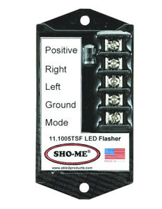 SHO-ME LED FLASHER - 7 STROBE STYLE PATTERNS-TERMINAL BLOCK