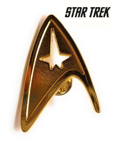 Star Trek Logo Metal Pin brooch Gold color Collectible gift decor cosplay