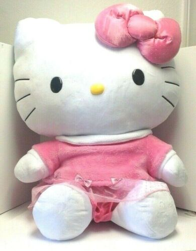 SANRIO HELLO KITTY PLUSH JUMBO 32IN PINK DRESS NEW