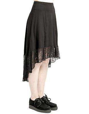 Tripp NYC Gothic Witch Occult Cult Black Goth Royal Maiden Hi Lo Skirt CE4570 Clothing, Shoes & Accessories
