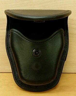 Blackhawk Black Leather Cuff Case Holster Slightly Worn