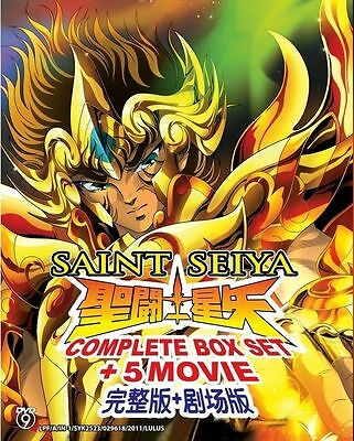 DVD Saint Seiya Complete Box Set + 5 Movie Japanese Anime English Subtitle