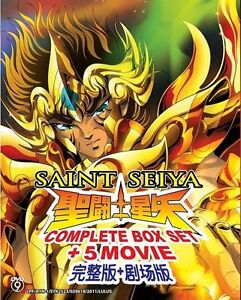 DVD Saint Seiya Complete Box Set + 5 Movie English Subtitle Japanese Anime