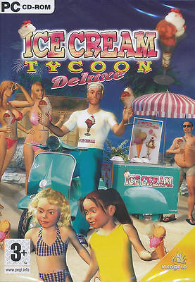 ICE CREAM TYCOON DELUXE Icecream Sim PC Game NEW in BOX - Business Simulation  Simulation Game Box
