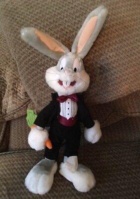 "Warner Bros Looney Tunes Tuxedo Bugs Bunny Plush 15"" Ace Play By Play 1998 Rare - Bunny Tuxedo"