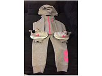 Girls Nike tracksuit and trainers