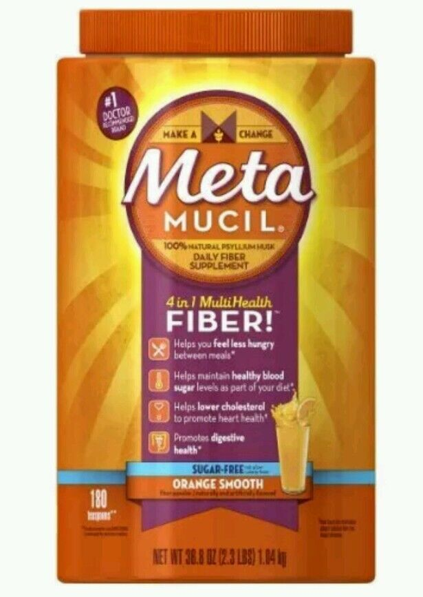 Metamucil Multi-health Fiber By Meta, Orange Smooth Sugar...