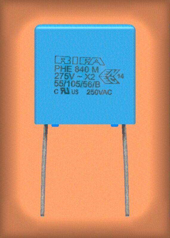 Lot (50) Kemet RIFA film capacitors 0.47 ufd 275 volt for ac line filters, etc