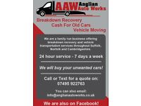 Vehicle Recovery & Cash For Cars Service - Suffolk, Norfolk & Cambridgeshire