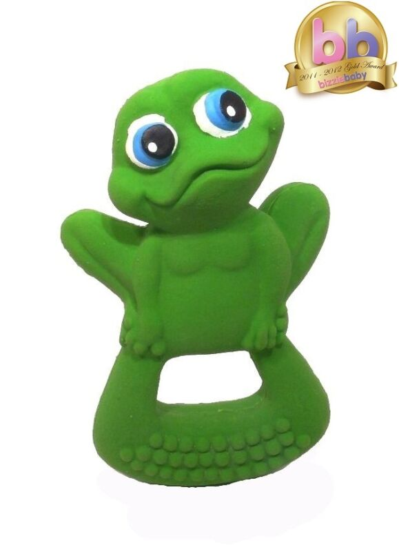 LANCO 100% Natural Rubber Frog Baby Teether Sensory Bath Time Toy RRP $19.95