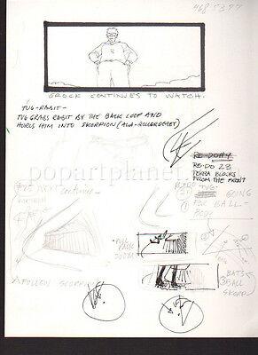 SOLARBABIES 1986 MOVIE ORIGINAL STORYBOARD NOTES/SKETCHES 2 SIDED CARL ALDANA