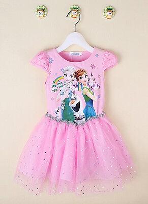 Frozen Fever - Elsa Anna - Vestito Tutù Bambina - Girl dress A00055