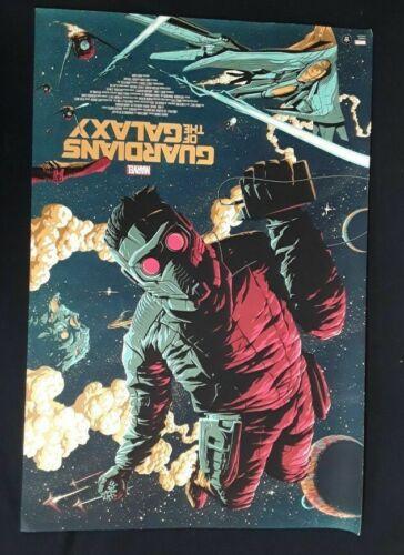 Guardians of the Galaxy Poster Print by Florey Regular Grey Matter Mondo 24 x 36