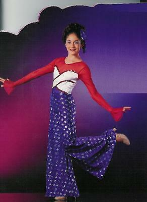 STARS & STRIPES Palazzo Jazz Dance Costume USA Themed 4th July CS,CM & AXL
