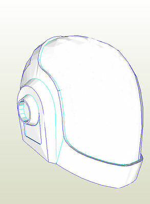 Daft Punk (Tron) Helmet Pepakura card Cosplay or prop