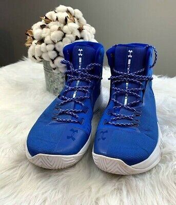 Men's Under Armour Drive 4 High Top Basketball Shoe Size 13 Blue 1303010-407 Driving Shoes High Top