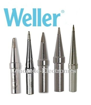 Weller Solder Tip Set Eta Etb Eto Etp Ets For Ec Pes Wcc Pencils 5-pak