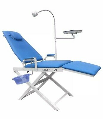 Dental Portable Chair Overhead Cold Light Cuspidor Tray Dentist Mobile Gu-109s