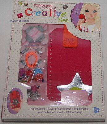 Depesche TopModel Kreativ Set Handytasche 7952_A selbst gestalten m. Perlen Pink