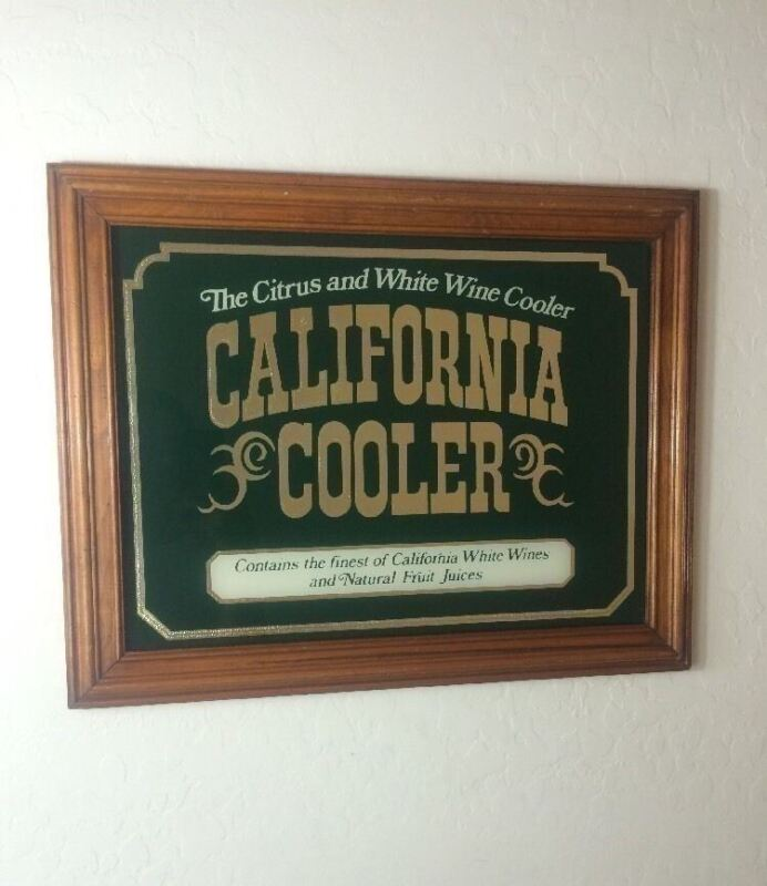 The Citrus and White Wine Cooler Glass Sign