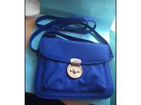 Blue handbag very good condition (can post)