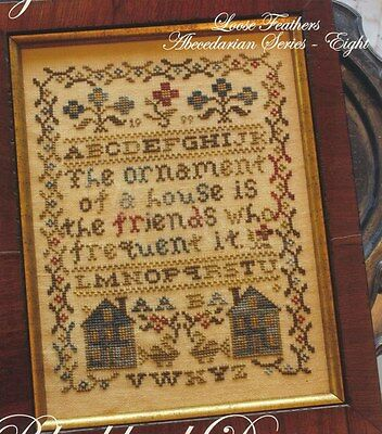 MY FRIEND'S HOUSE CROSS STITCH SAMPLER BLACKBIRD DESIGNS LOOSE FEATHERS