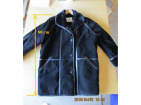 Black French suede coat size 18 UK (46 Fr)