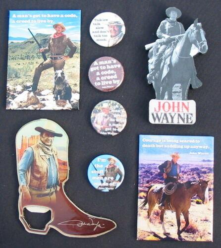 8 John Wayne Magnet Lot Collection Bottle Opener The Duke Cowboy Horse Images