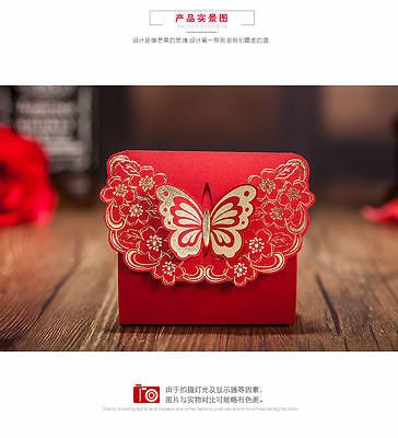 20x Red Wedding Party Favors Gift Box