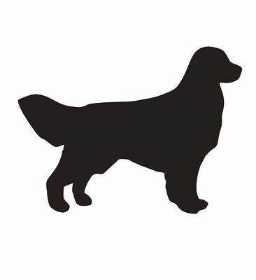 Golden Retriever Dog Vinyl Die Cut Car Decal Sticker - FREE