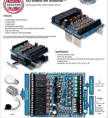 Velleman Ka05 Io Shield For Arduino Uno Diy Solder Kit Version