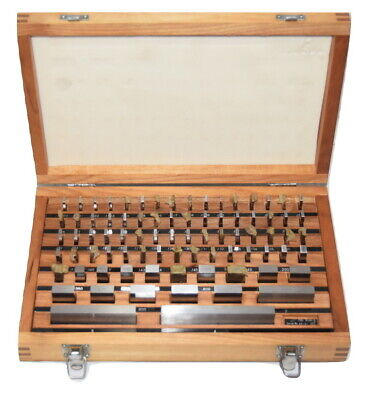 Mhc Rectangular Grade B Gage Block 81 Set With Wooden Case .1000 To 4