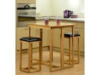 Caspian Breakfast Set + 2 Stools