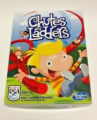 Chutes and Ladders Hasbro Game Children's Board Game COMPLETE Made In The USA](Chutes And Ladders Game)