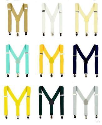 Hosenträger Y-Form elastisch Clips Herren Damen verstellbar Suspender Unisex Men