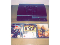 SONY PLAYSTATION 3 WITH 3 GAMES