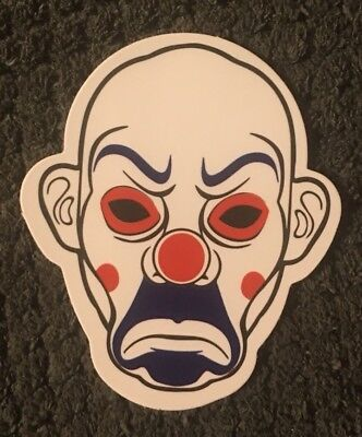Scary Angry Clown makeup skateboard vinyl sticker decal 2