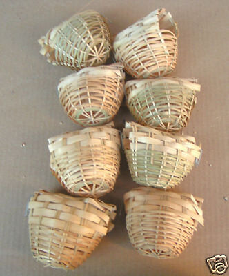 Finch Bird Nests - NEW Bird Finch Bamboo Nests #8221 - Lot of 8 pcs-562