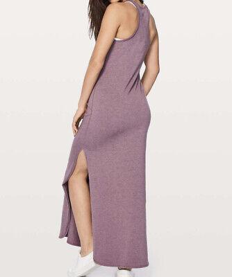 NWT Lululemon Refresh Maxi Dress II Heathered Dusty Mauve Purple Size 6