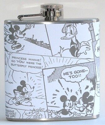 MICKEY MOUSE DISNEY CARTOON GIFT IDEA PARTY BAR 6 OZ LIQUOR HIP FLASK FLASKS  - Mickey Party Ideas
