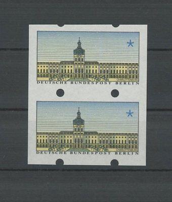 BERLIN ATM SCHLOSS CHARLOTTENBURG ABART PAAR UNGESCHNITTEN ** MNH m1224