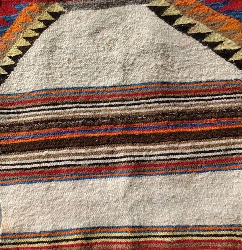 Navajo Rug Antique Saddle Blanket Native American Indian Weaving 30x27 1900